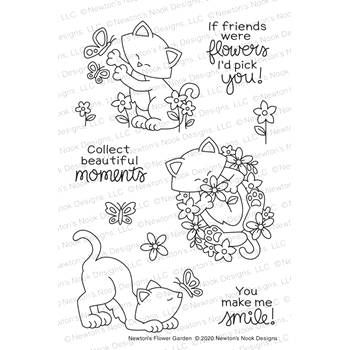 Newton's Nook Designs NEWTON'S FLOWER GARDEN Clear Stamps NN2005S03