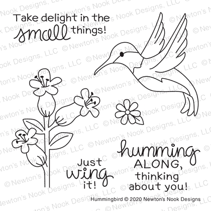 Newton's Nook Designs HUMMINGBIRD Clear Stamps NN2005S02 zoom image