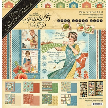 Graphic 45 HOME SWEET HOME 12 x 12 Deluxe Collector's Edition 4502090*