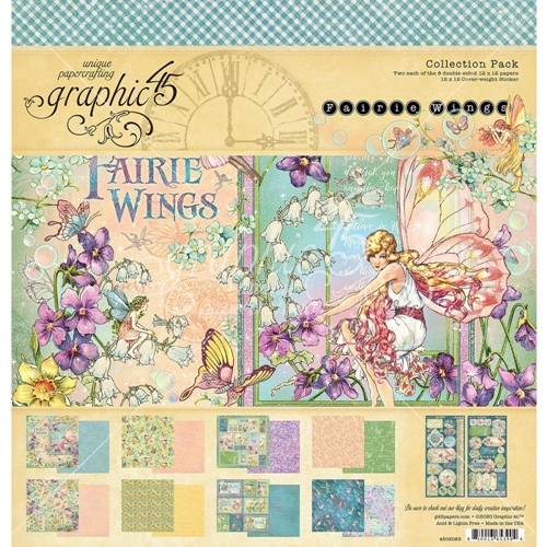 Graphic 45 FAIRIE WINGS 12 x 12 Paper Pad 4502083 Preview Image