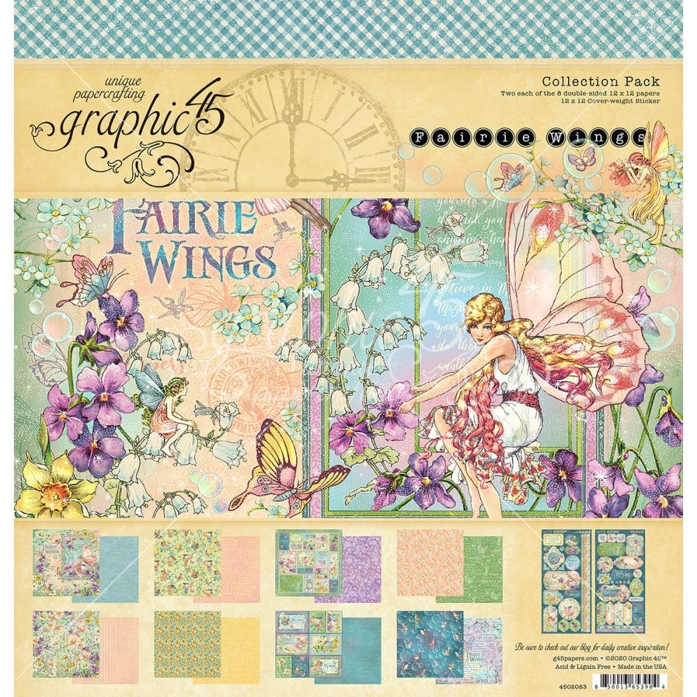 Graphic 45 FAIRIE WINGS 12 x 12 Paper Pad 4502083 zoom image