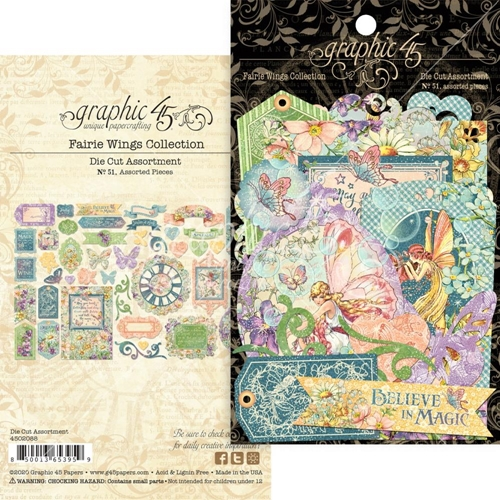 Graphic 45 FAIRIE WINGS Die Cut Assortment 4502088 Preview Image