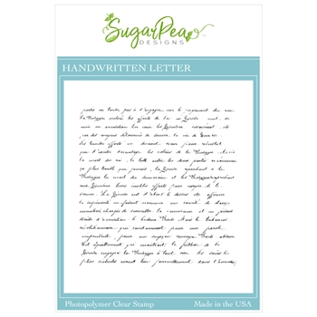 SugarPea Designs HANDWRITTEN LETTER Clear Stamp Set spd00460