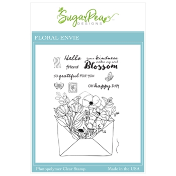 SugarPea Designs FLORAL ENVIE Clear Stamp Set spd00458