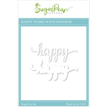 SugarPea Designs HAPPY WORD SugarCuts Dies spd00457