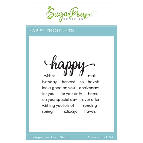 SugarPea Designs HAPPY THOUGHTS Clear Stamp Set spd00456 Preview Image