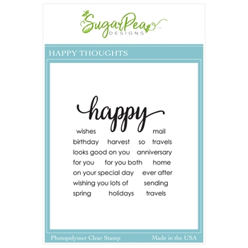 SugarPea Designs HAPPY THOUGHTS Clear Stamp Set spd00456