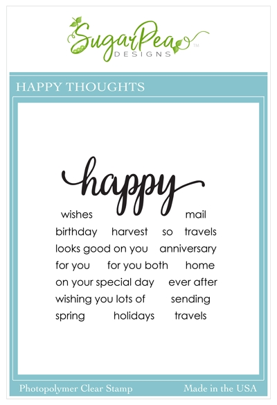 SugarPea Designs HAPPY THOUGHTS Clear Stamp Set spd00456 zoom image
