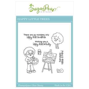 SugarPea Designs HAPPY LITTLE TREES Clear Stamp Set spd00454