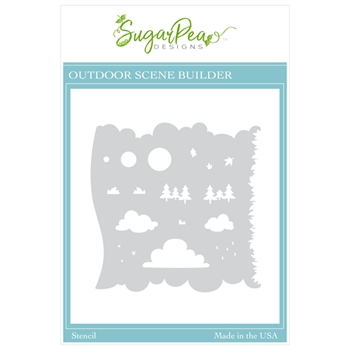 SugarPea Designs OUTDOOR SCENE BUILDER Stencil spd00453