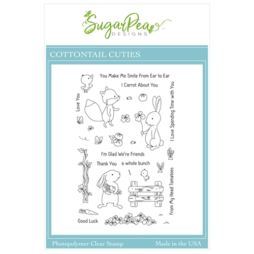 SugarPea Designs COTTONTAIL CUTIES Clear Stamp Set spd00451 Preview Image