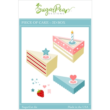 SugarPea Designs PIECE OF CAKE 3D BOX SugarCuts Dies spd00450