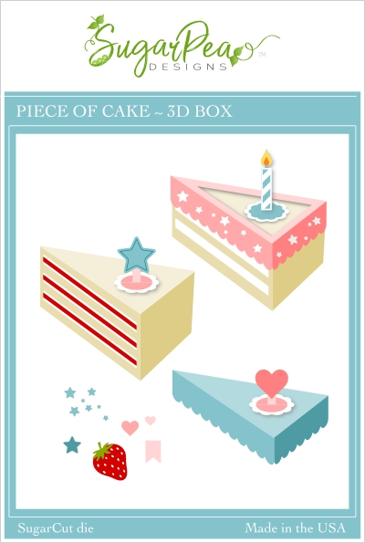 SugarPea Designs PIECE OF CAKE 3D BOX SugarCuts Dies spd00450 zoom image