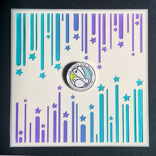 The Rabbit Hole Designs RIBBON STAR Stencil TRH-013S Preview Image
