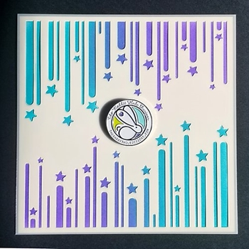 The Rabbit Hole Designs RIBBON STAR Stencil TRH-013S
