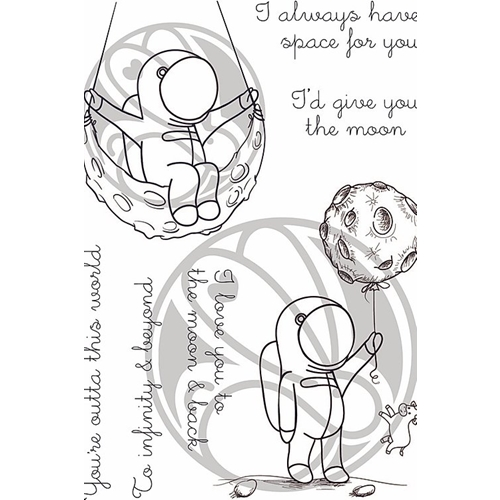 The Rabbit Hole Designs SPACE INFINITY AND BEYOND Clear Stamps TRH-72 Preview Image