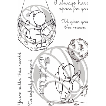 The Rabbit Hole Designs SPACE INFINITY AND BEYOND Clear Stamps TRH-72