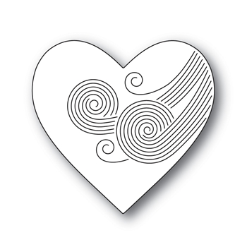 Simon Says Stamp ETCHED SWIRL HEART Wafer Die s691 Crafty Hugs