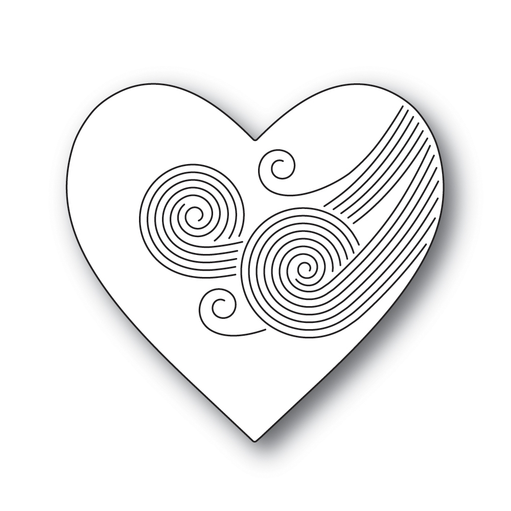 Simon Says Stamp ETCHED SWIRL HEART Wafer Die s691 Crafty Hugs zoom image