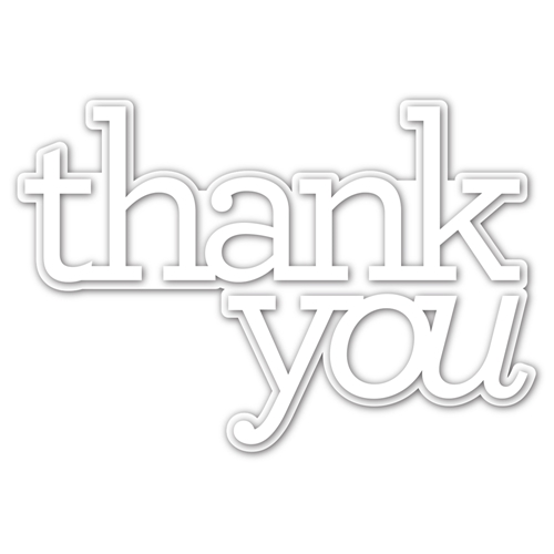 CZ Design EXTRA LARGE THANK YOU Wafer Dies czd90 Crafty Hugs Preview Image