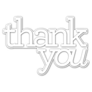 CZ Design EXTRA LARGE THANK YOU Wafer Dies czd90 Crafty Hugs