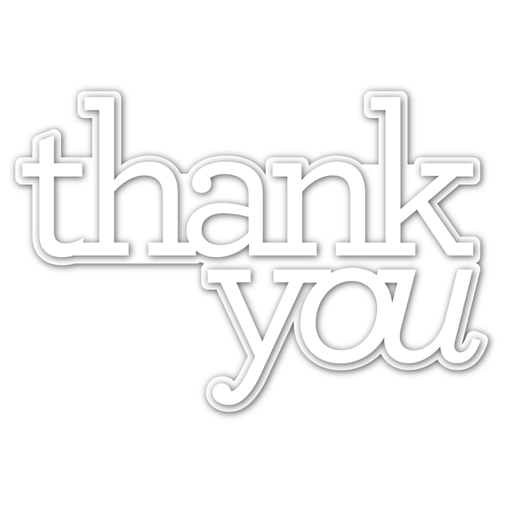 CZ Design EXTRA LARGE THANK YOU Wafer Dies czd90 Crafty Hugs zoom image