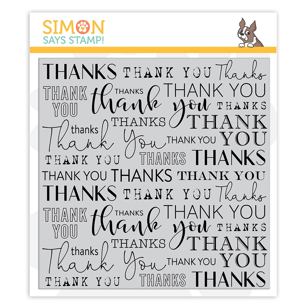 Simon Says Cling Stamp THANK YOU BACKGROUND sss102149 Crafty Hugs zoom image