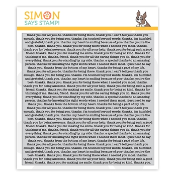 RESERVE Simon Says Cling Stamp THANK YOU TEXT sss102148 Crafty Hugs