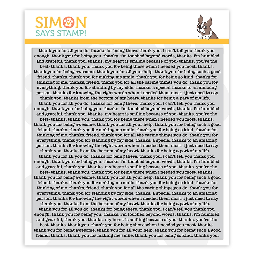 Simon Says Cling Stamp THANK YOU TEXT sss102148 Crafty Hugs zoom image