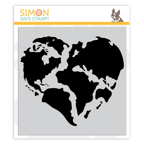 Simon Says Cling Stamp WORLD OF LOVE sss102139 Crafty Hugs Preview Image