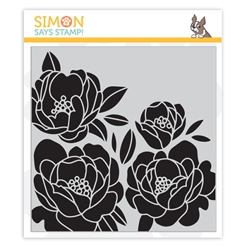 Simon Says Cling Stamp PEONY BOUQUET sss102134 Crafty Hugs