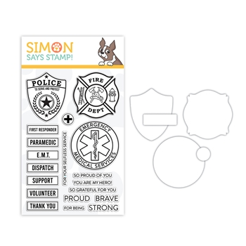 RESERVE Simon Says Stamps and Dies FIRST RESPONDERS set388fr Crafty Hugs