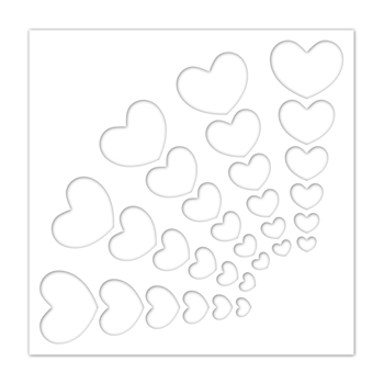 RESERVE Simon Says Stamp Stencil RADIANT HEARTS ssst121479 Crafty Hugs