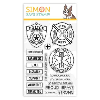 Simon Says Clear Stamps FIRST RESPONDERS sss102147 Crafty Hugs