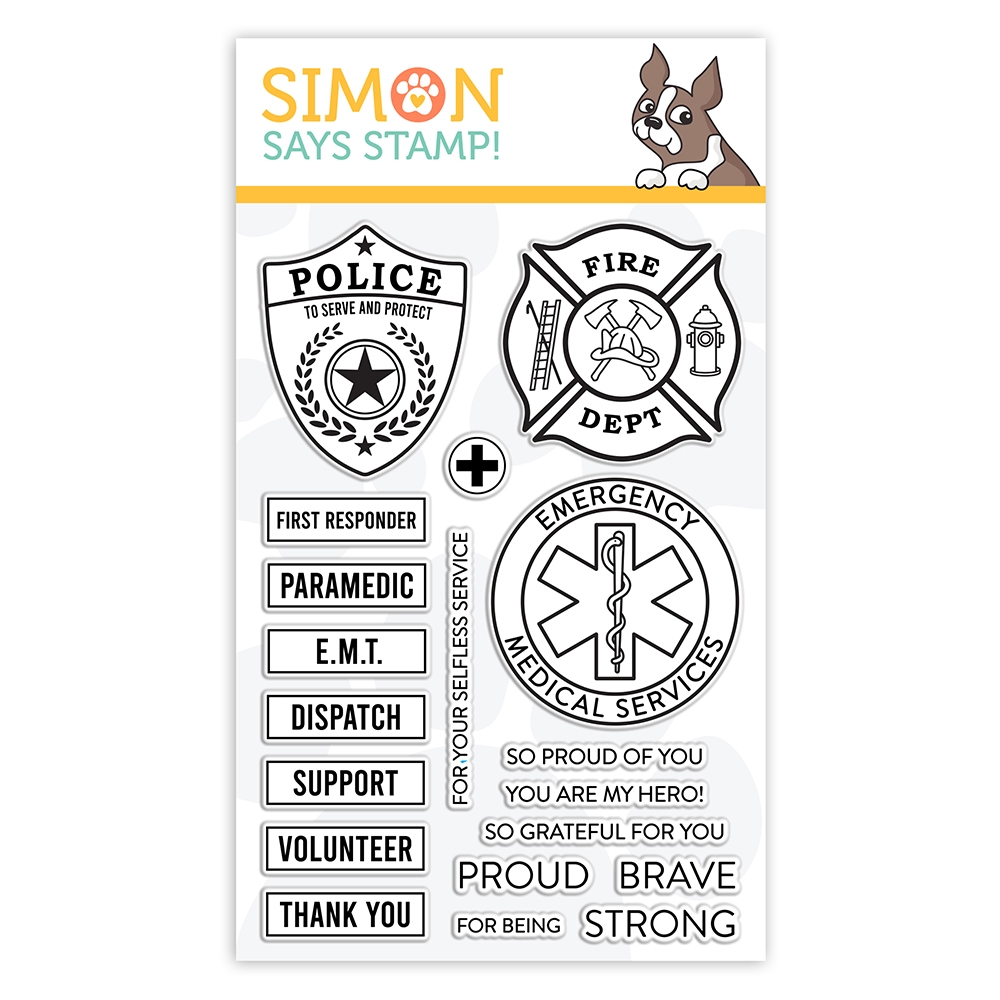 Simon Says Clear Stamps FIRST RESPONDERS sss102147 Crafty Hugs zoom image