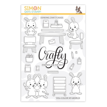 Simon Says Clear Stamps CRAFTY BUNNIES sss202142 Crafty Hugs