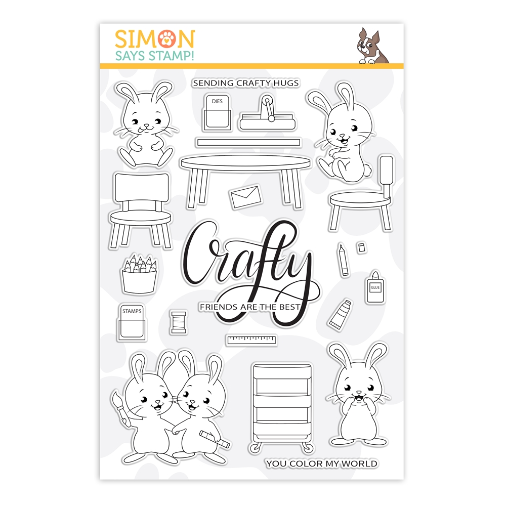 Simon Says Clear Stamps CRAFTY BUNNIES sss202142 Crafty Hugs * zoom image