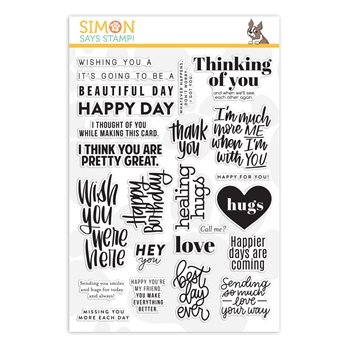 RESERVE Simon Says Clear Stamps GREETINGS MIX 2 sss202124 Crafty Hugs