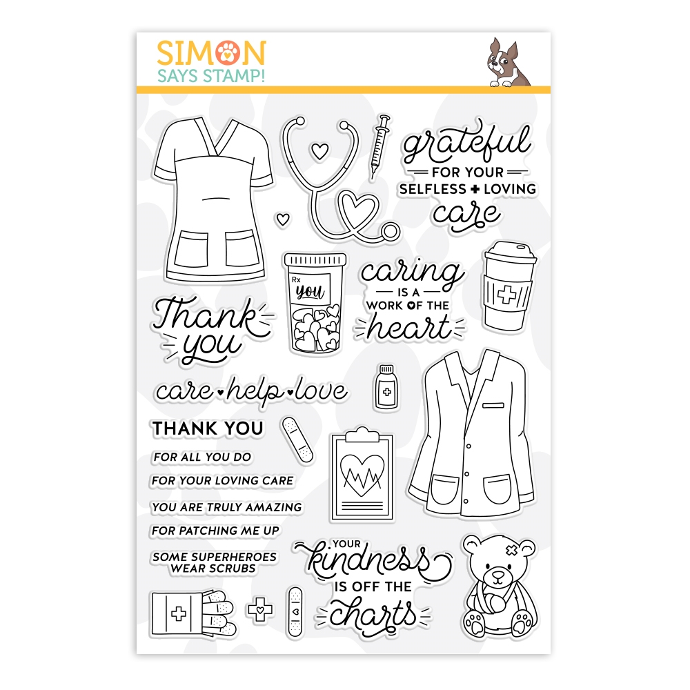 Simon Says Clear Stamps WORK OF THE HEART sss202146 Crafty Hugs zoom image