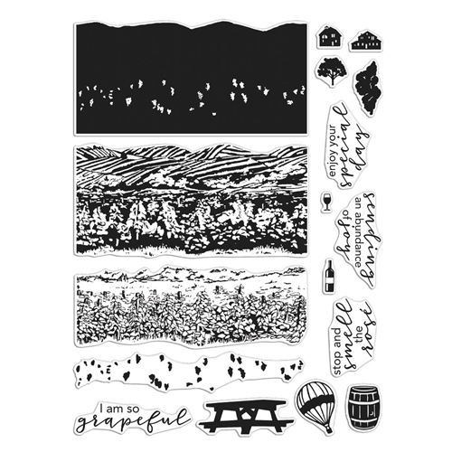 Hero Arts Clear Stamps VINEYARD HEROSCAPE CM452 Preview Image