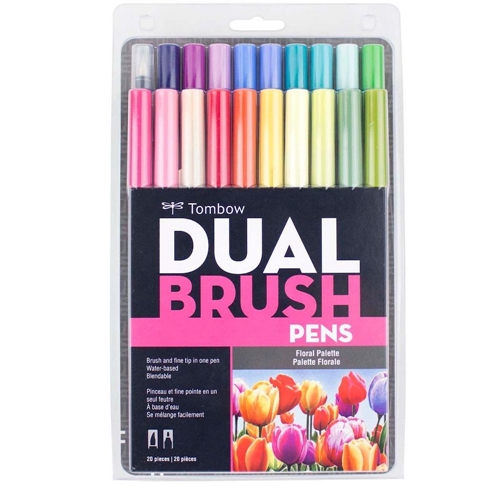 Tombow FLORAL PALETTE Dual Brush Markers 20 Pack 56192 Preview Image