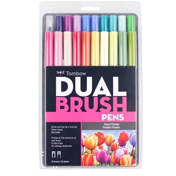 Tombow FLORAL PALETTE Dual Brush Markers 20 Pack 56192