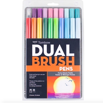 Tombow PERFECT BLENDS Dual Brush Markers 20 Pack 56193