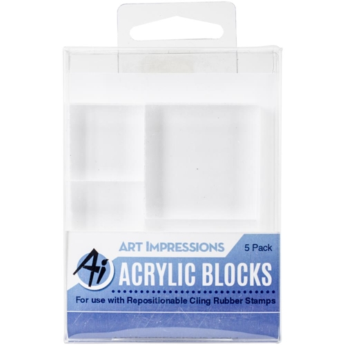 Art Impressions ACRYLIC BLOCK 5 Pack Variety 4773 Preview Image