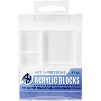 Art Impressions ACRYLIC BLOCK 5 Pack Variety 4773