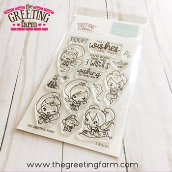 The Greeting Farm 3 WISHES Clear Stamps tgf552