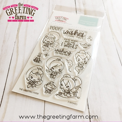 The Greeting Farm 3 WISHES Clear Stamps tgf552 zoom image