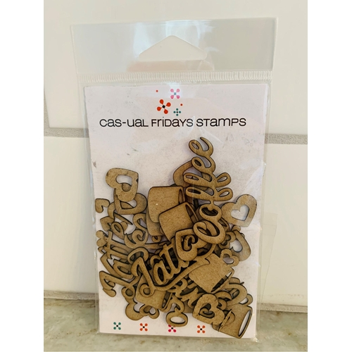 CAS-ual Fridays COFFEE Chipboard Die Cut Shapes cfcb2002 Preview Image