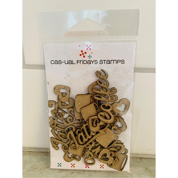 CAS-ual Fridays COFFEE Chipboard Die Cut Shapes cfcb2002*