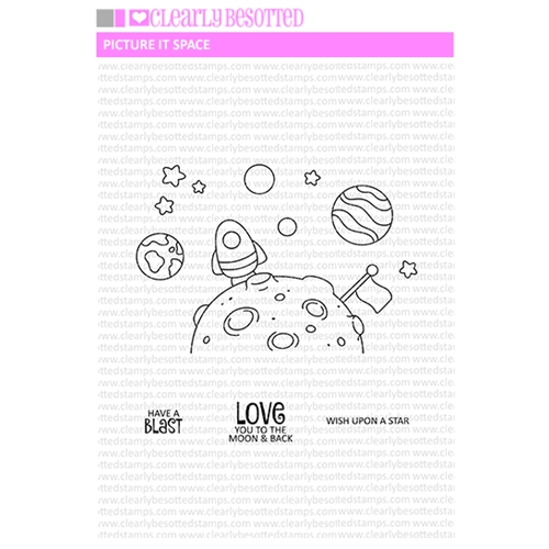 Clearly Besotted PICTURE IT SPACE Clear Stamps Preview Image